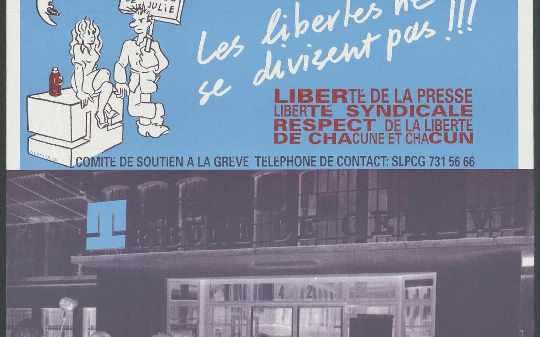 Grève à la Tribune de Genève