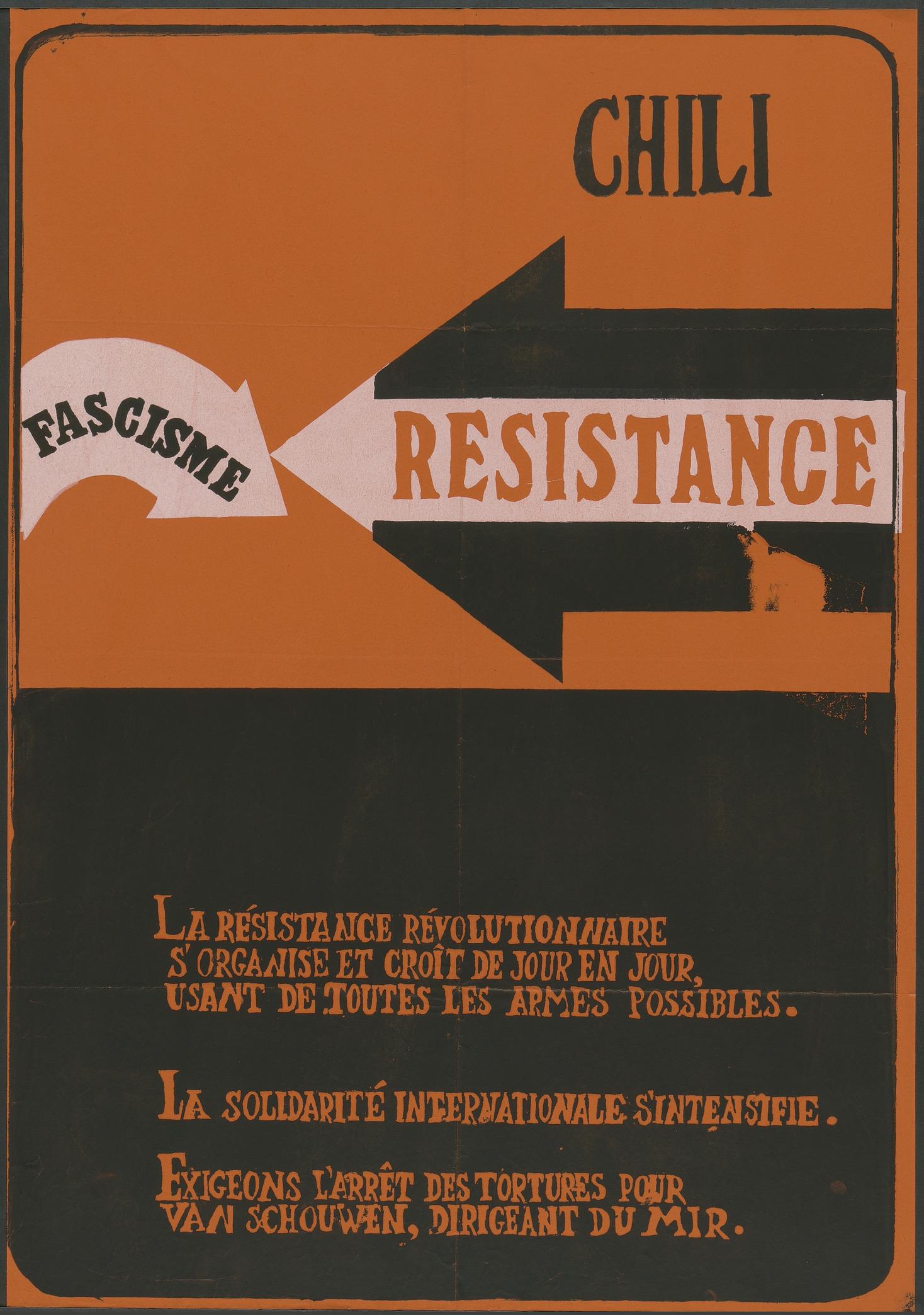 Chili résistance fascisme Aff 0074